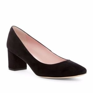 NEW Kate Spade Dolores Black Suede Block Heel 10.5
